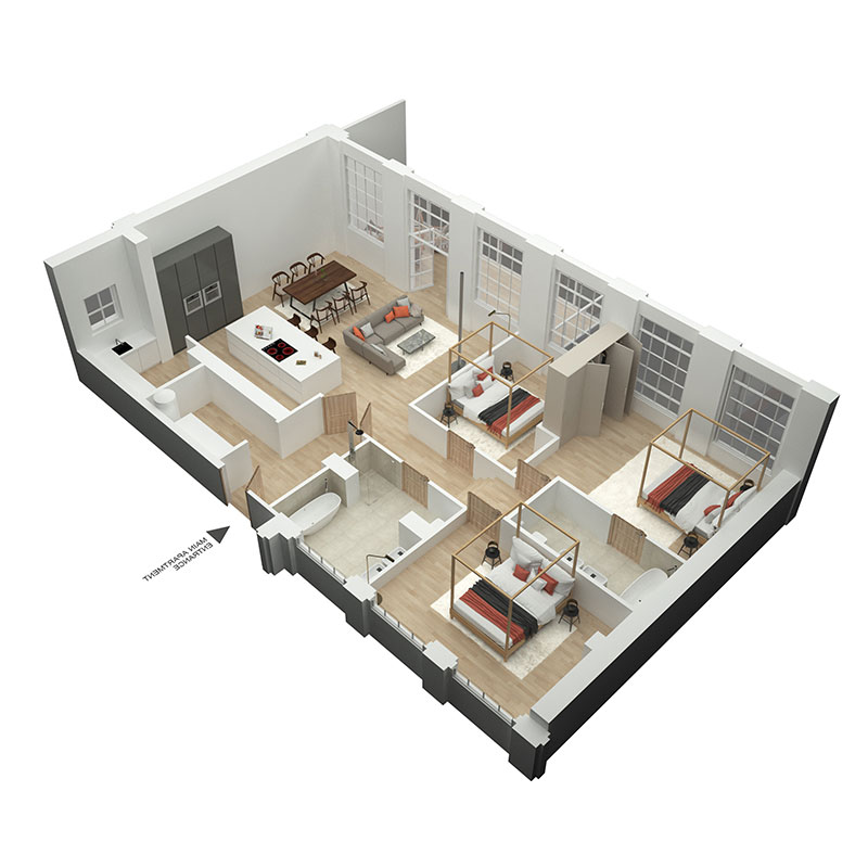 blair hill apartments for sale floor plan